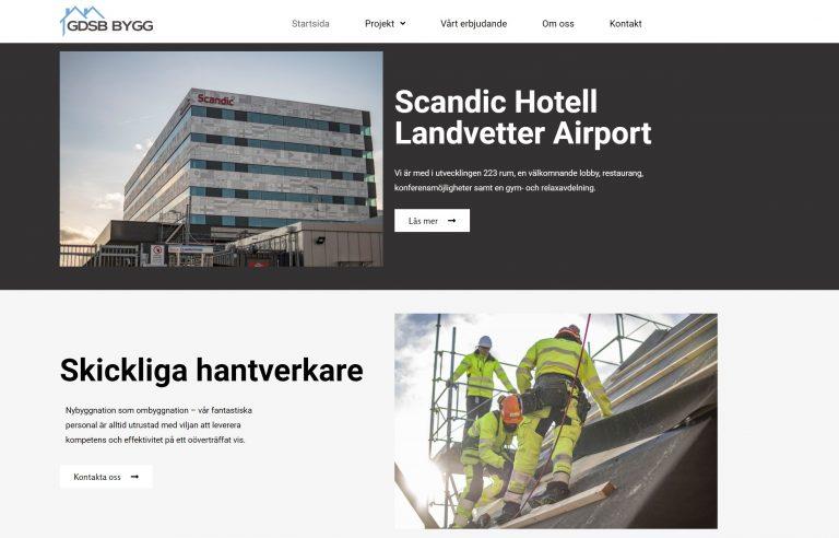 Skärmbild av användarvänlig hemsida skapad av Fix-IT