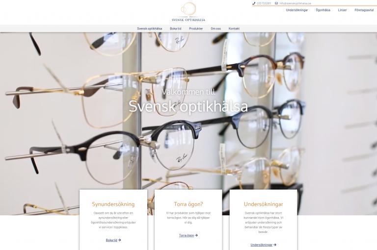 Skärmbild av snygg och användarvänlig hemsida skapad av Fix-IT